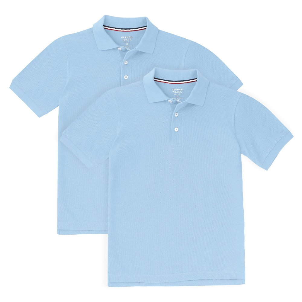 French Toast Boys' Short Sleeve Pique Polo-2 Pack SA9084K