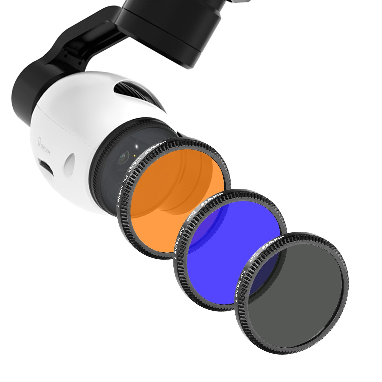 Neewer/® Filtri Colorati Set per DJI Phantom 3 Professional e Phantom 3 Advance Filtro Blu NON Compatibile con DJI Phantom 3 Standard Filtro Arancione DJI Phantom 4: Filtro Grigio