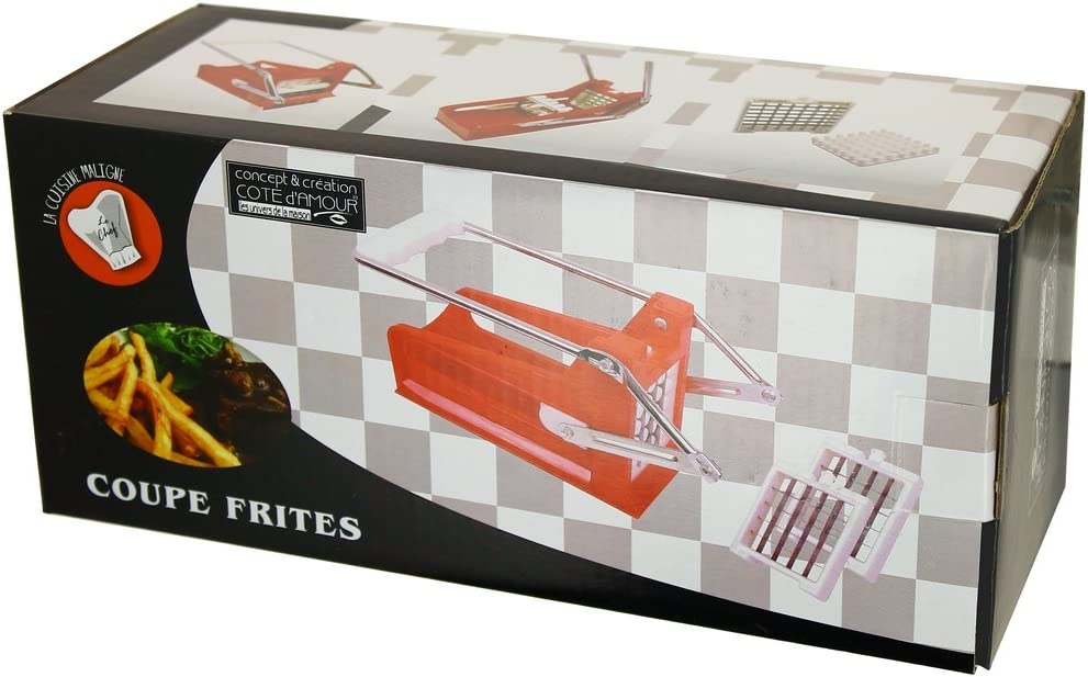 Promobo Coffret Coupe Frites avec 2 lames inox Cuisine Collection Chef Cuistot