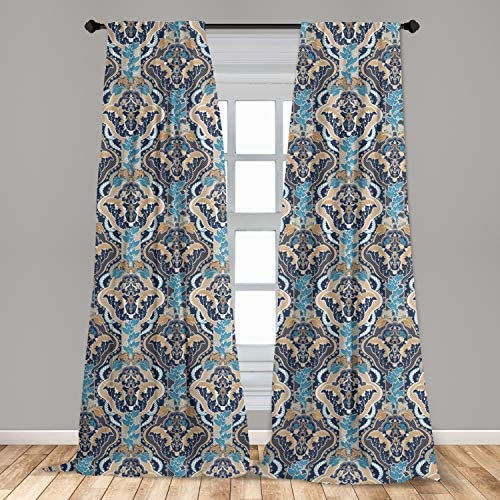 Ambesonne Asian Curtain