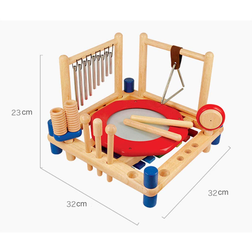 ZYN Child Percussion Instrument Combination Enlightenment Early Education Wooden Educational Toy by ZYN (Image #2)