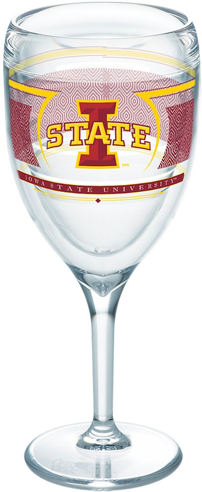 Tervis 1230377 NCAA Iowa State Cyclones Reserve Wine Glass 9 oz Clear