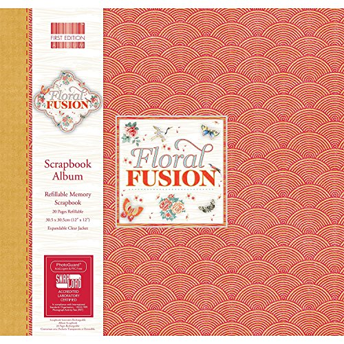 First Edition Floral Fusion Scrapbook Album 12