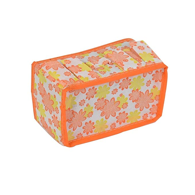 Amazon.com: Caja Floral patrón eDealMax Househlod Almacenamiento de escritorio plegable del caso 2pcs Naranja: Kitchen & Dining