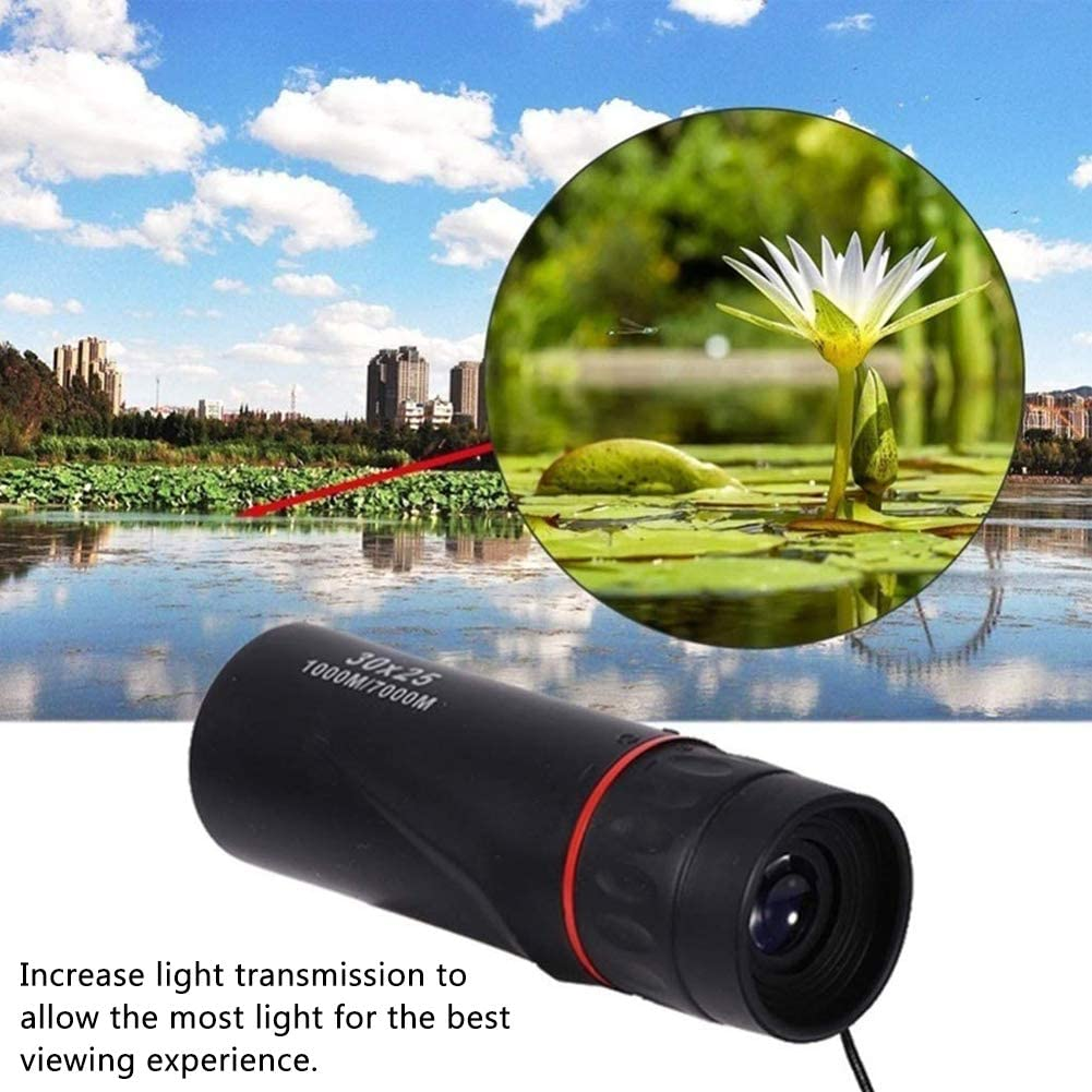 INTVN Monocular,HD Optical 30 x 25 Focus Telescope 7X Magnification Waterproof Mini Monocular Telescope Portable for Sporting Events Concerts Camping Scope Travelling Gifts for Kids