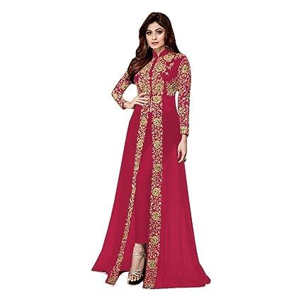 f0cceb4b7b Image Unavailable. Image not available for. Color: Ready to Wear Designer  Shamita Kaftan Eid Muslim Festive Rakhi Salwar Kameez Dress Pants Style Suit