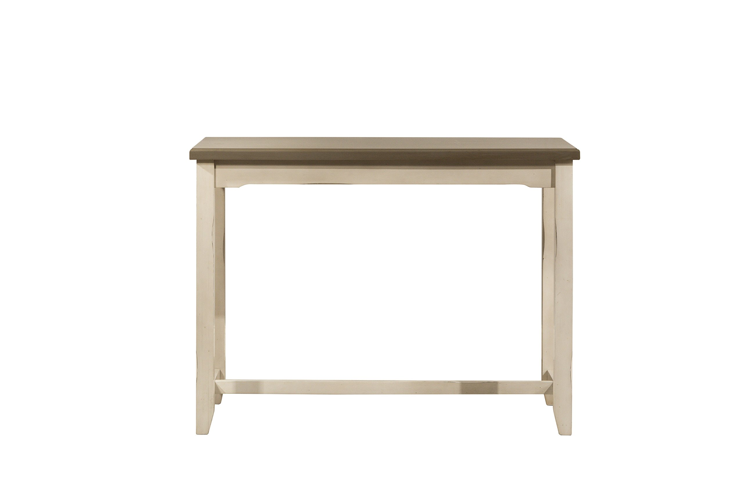 Hillsdale Furniture 4542-880 Hillsdale Clarion Side, Distressed Gray/Sea White Counter Height Table,
