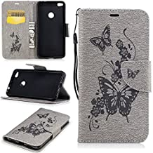 """Huawei P8 Lite(2017)case,Huawei Honor 8 Lite case,[FQY][Gray-H][Pu Leather]and[TPU]Wallet,Card slot,Support Case for Huawei P8 Lite(2017)(5.2"""")"""