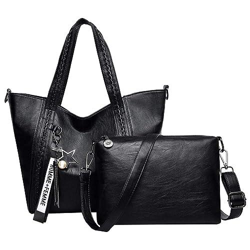 e749d63a27ba DSLONG Women Bag Set Leather Big Shoulder Purse + Crossbody Bag For Women  Travel Purse and
