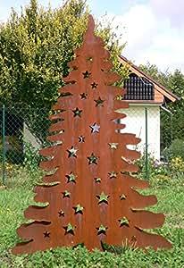 Abetos Árbol para ilumina h140cm doble pared abeto árbol de Navidad Navidad óxido oxidado + ORIGINAL instrucciones de lavado de piedra figuras Mundo