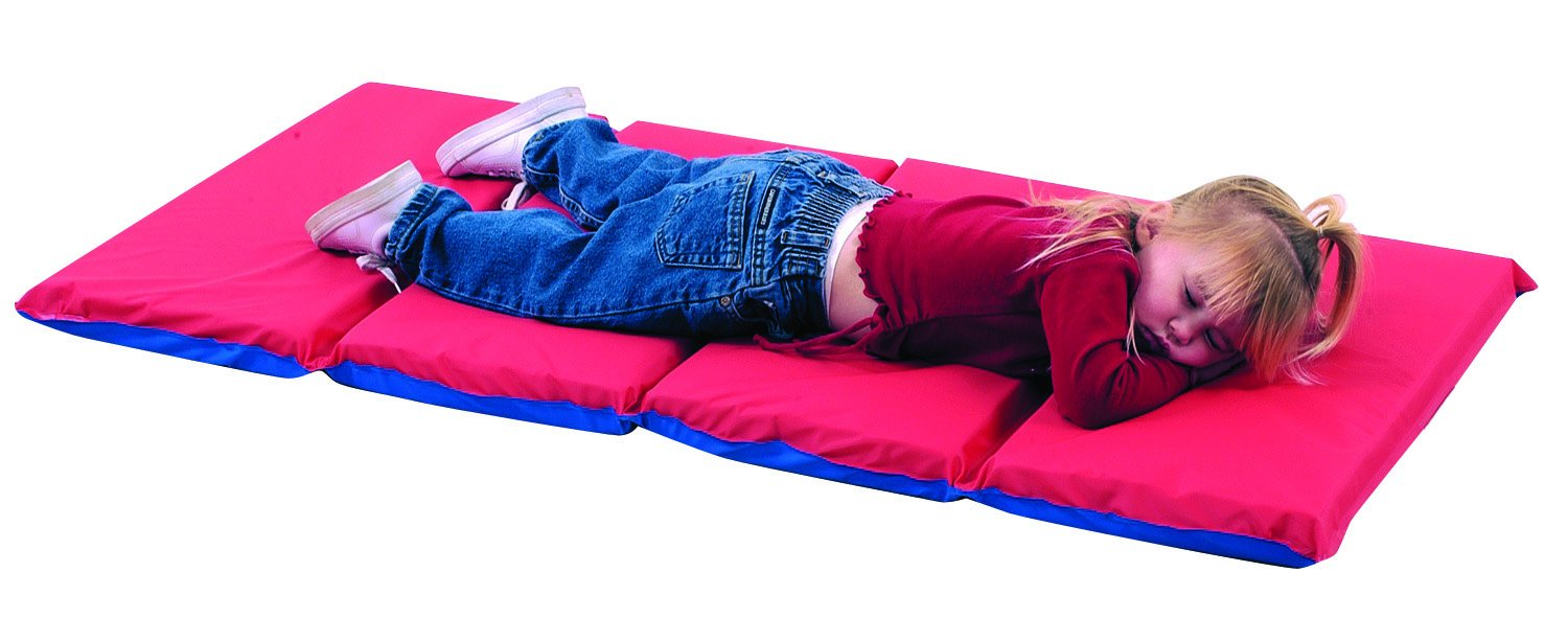 Rest Mat (4 Section 24 x 48 x 2 - Red and Blue in 5 Pack) B000NNQ094