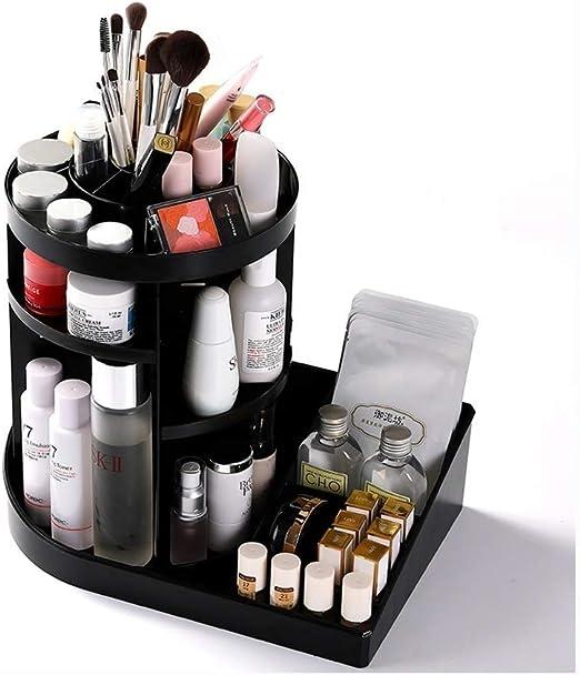 IRVING Organizador giratorio de maquillaje, Caja de soporte de exhibición de perfumes cosméticos de joyería ajustable de 360 grados, Capas Gran capacidad de maquillaje Almacenamiento para tocador, D: Amazon.es: Hogar