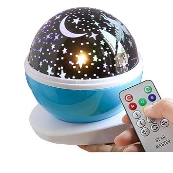 YJDQXKD Iluminación Proyector Estrellas,Control Remoto Música ...