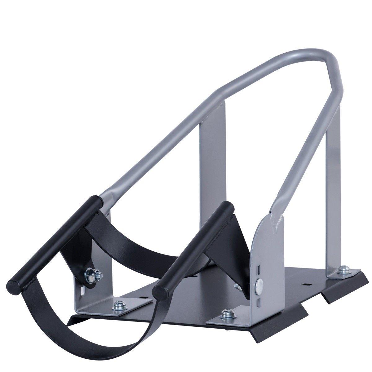 Goplus Motorcycle Wheel Chock Cradle Scooter Bike Stand Lift Mount Trailer (Silver) by Goplus