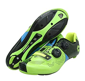 46b255b676 DUBAOBAO Zapatillas de Bicicleta de Carretera para Hombre y Mujer, Bicicleta  de Carretera de Fibra de Carbono Super Profesional, Transpirable, ...