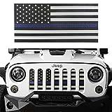 Automotive : Opar Front Grille Insert Mesh for 07-17 Jeep Wrangler JK & Wrangler Unlimited ( Thin Blue Line )