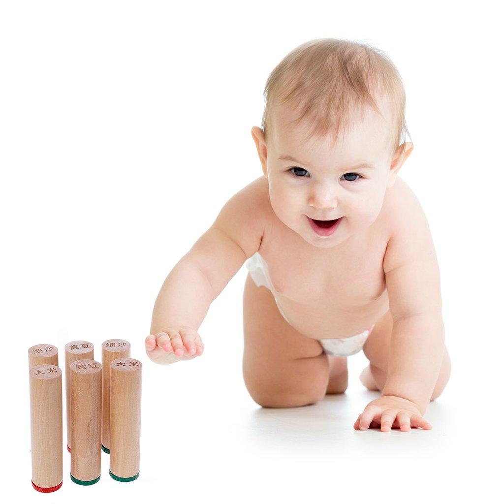 JAGETRADE Montessori Sensorial Auditivo Cajas de Sonido Cilindros Niños Bebé Juguetes Educativos: Amazon.es: Juguetes y juegos