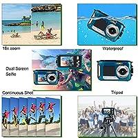 Waterproof Underwater Digital Camera,24MP 1080P Dual Screen Point and Shoot Digital Video Recorder Cameras from Moontak