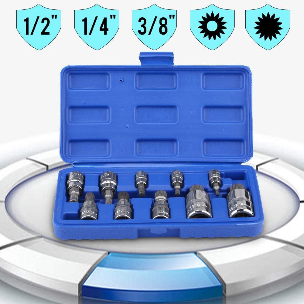 Douille /à Embout Hexagonal 7pcs Douille /à Embout Hexagonal 7pcs Cl/és /à Douille Embout Extra Longue Outil de R/éparation de l/'Entra/înement 1//85//32 3//167//32 1//45//16 3//8 Driver Drill Bit Socket