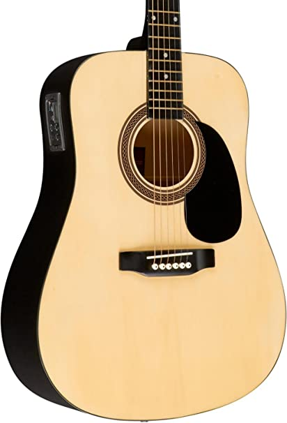 Rogue ra-090 Dreadnought Guitarra Electroacústica Natural: Amazon ...