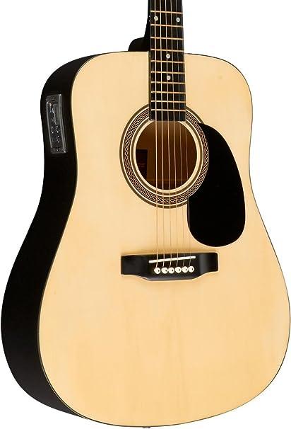 Rogue ra-090 Dreadnought Guitarra Electroacústica Natural: Amazon ...