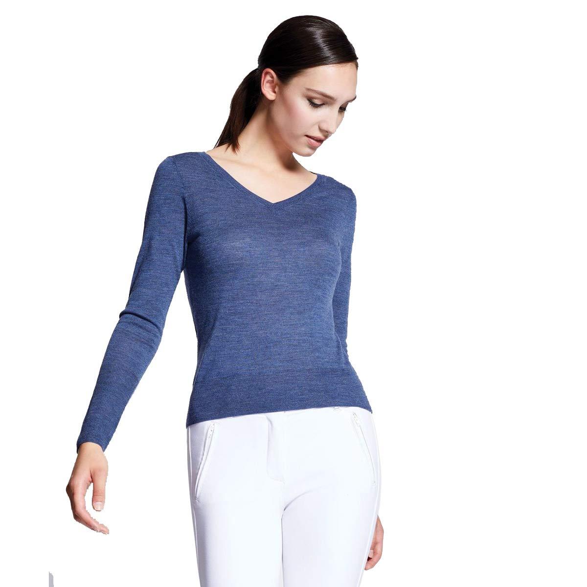 Noel Asmar(ノエルアスマール) Adara V-Neck Merino Sweater アデラVネック メリノセーター ネイビー Sサイズ B07B9MVN6S