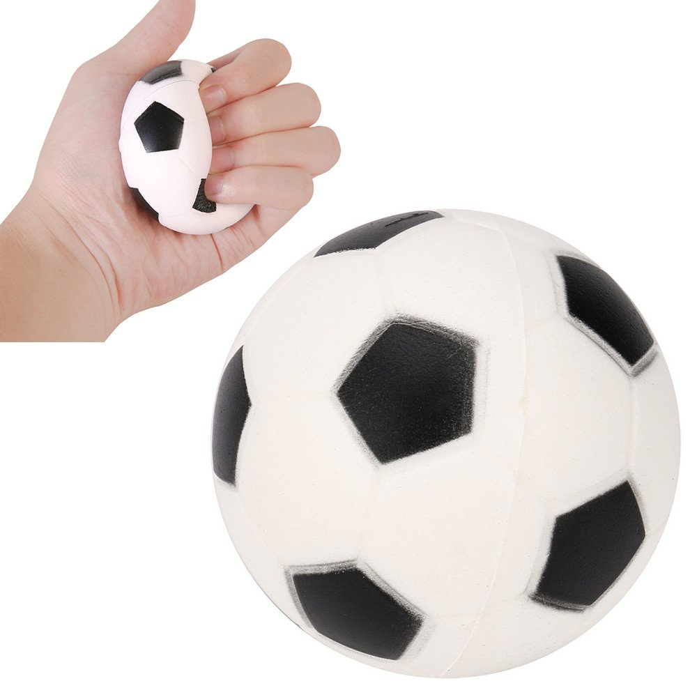 Choosebuy❤️ Squishies Jumbo Football Cream Scented Slow Rising Stress Relief Kawaii Toys Xmas Christmas Collection Gift (A)
