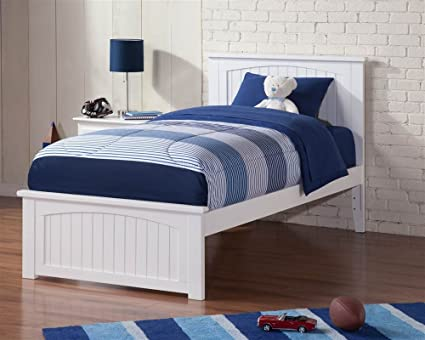 Merveilleux Atlantic Furniture 77 In. Eco Friendly Twin XL Bed In White Finish