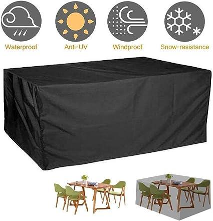 RETTANGOLARE HEAVY DUTY poliestere giardino Set tavolo e sedie Cover 3 Taglie