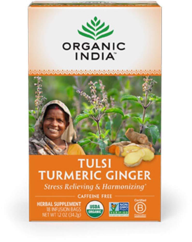 ORGANIC INDIA Tulsi Turmeric Ginger Tea (6 Pack) by Organic India