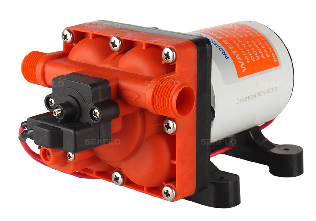 SEAFLO 42-Series Water Pressure Diaphragm Pump w/Variable Flow for Reduced Cycling - 12V, 3.0GPM, 55PSI