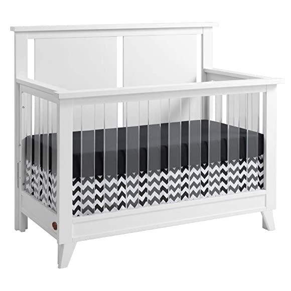 Oxford Baby Holland Wood Acrylic 4-in-1 Convertible Crib, Snow White