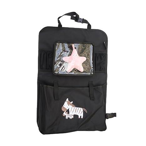 abimars coche Seat Organiser- Tidy Multi-bolsillo viaje bolsa de almacenamiento bolsillos multiusos para iPad, Tablet, aperitivos y otros artículos de bebé ...