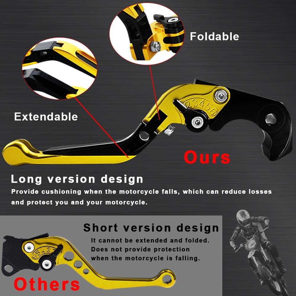 CNC Extendable Foldable Motorcycle Adjustment Pivot Short Levers Brake Clutch For Suzuki GSXR1300 GSXR 1300 HAYABUSA 2008 2009 2010 2011 2012 2013 2014 2015 2016 2017
