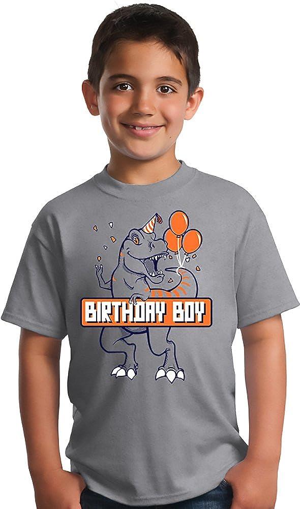 Dino Themed B-Day Youth T-Shirt Sport Grey Birthday Boy T-Rex Dinosaur Birthday Party