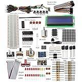 Sunfounder Project Super Starter Kit w/ 26-Pin GPIO Extension Board, GPIO Cable, H-Bridge L293D, ADXL335, DC Motor, 7-Segment, Dot Matrix Display for Raspberry Pi