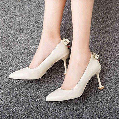 Fiesta Tacón XUERUI EU37 5 Trabajando 8 Zapatos De Zapatos Princesa Stilettos tacón 2 UK4 5cm Tacones CN37 Tamaño de Graduación 1 De Sra 5 Color z1pHrz8