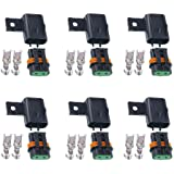 Uxcell a14052300ux0215 10 Pcs Auto Car Boat Truck Blade ATC Fuse Holder Seat Cover Pack of 10