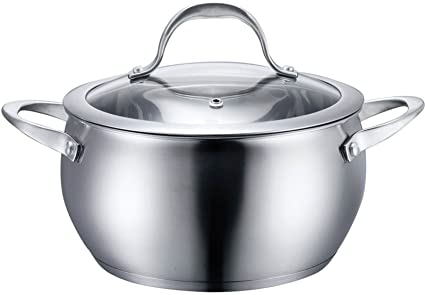 Amazon.com: Cookware Pots Pan Home Goods kitchen Stainless ...