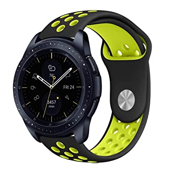 iBazal 20mm Bracelet Silicone Watch Bands Straps Compatible Samsung Galaxy Watch 42mm/Active/Gear