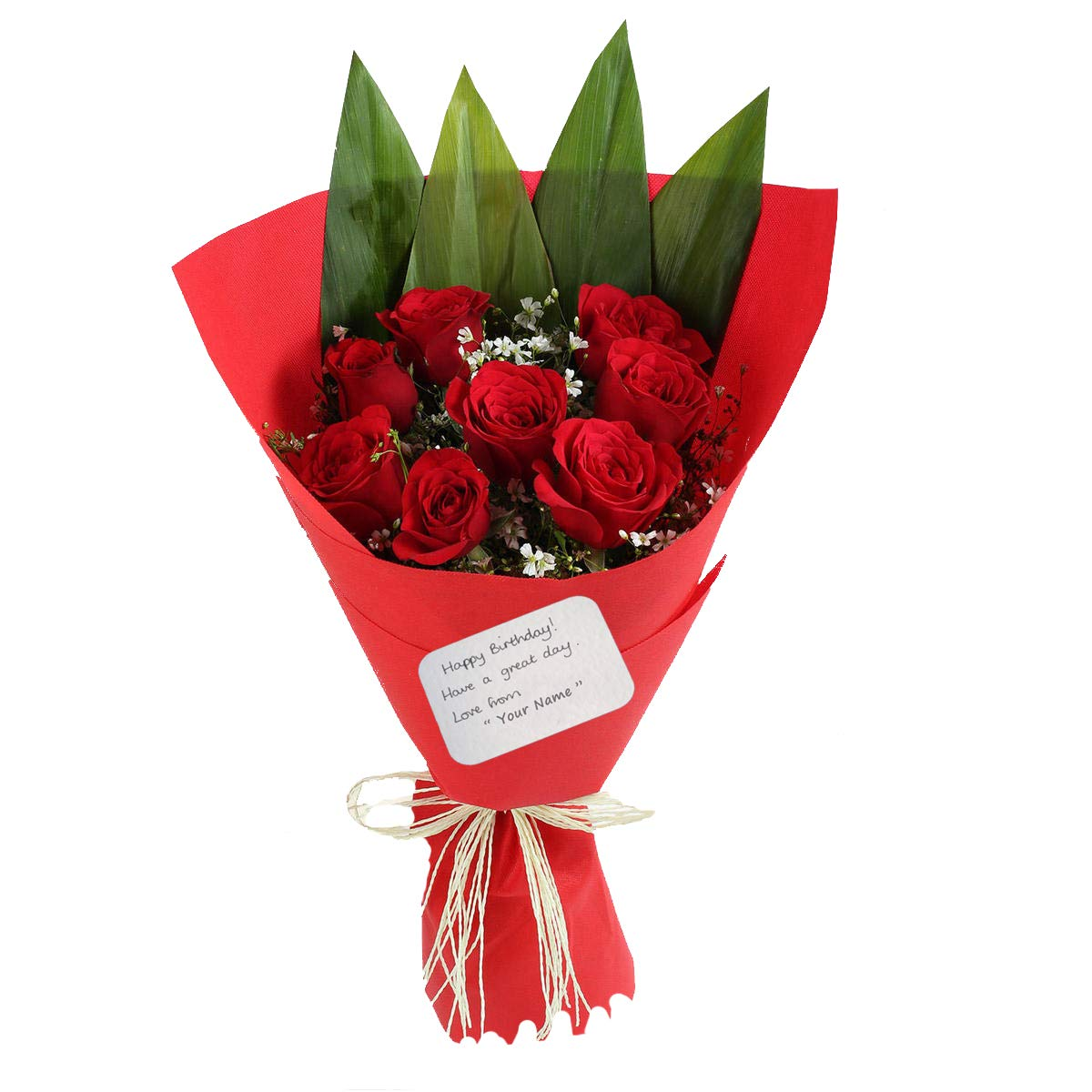 The Floralmart Birthday Special Fresh Flower Bouquet Of 10 Red Roses In Paper Packing Amazon In Home Kitchen