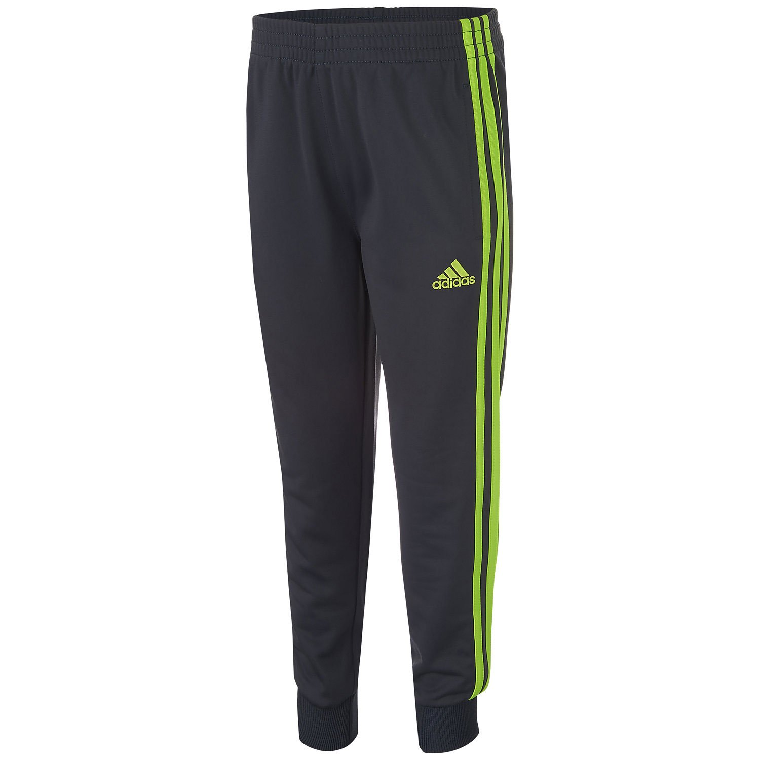 adidas Little Boys' Tricot Jogger Pant (4) Lime by adidas