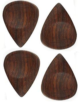 palisandro (Rosewood) Púa para guitarra acústica y guitarra eléctrica, 4 unidades, madera ideal para Rock, Pop, Jazz, metal, Blues, Country: Amazon.es: ...