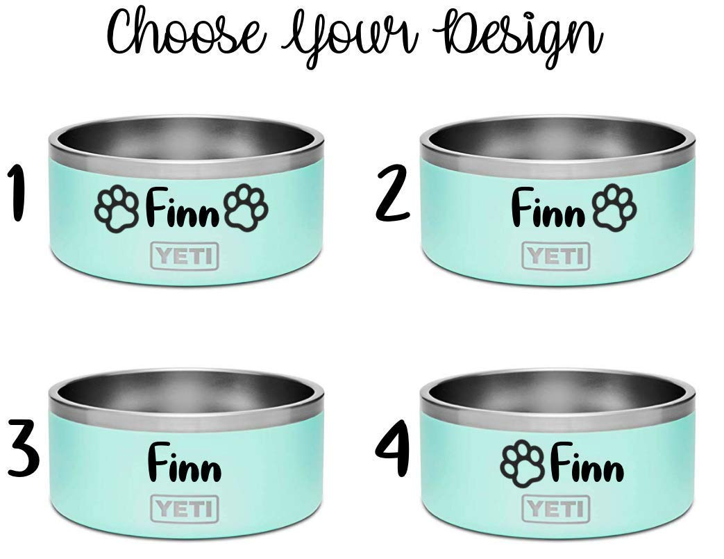 Custom YETI Dog Bowl, Custom Pet Accessories, Personalized Dog Bowl, Customized YETI Dog Bowl, Custom YETI by FeroniArt (Image #3)