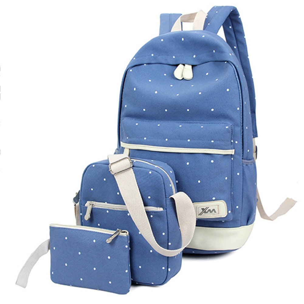 dfad0b0dfe04 FULOZO® Dots Backpack student Bags Set for Teens Girls