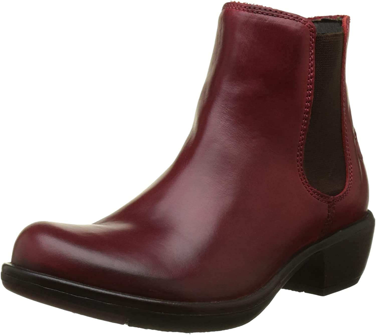Fly London Damen Make Chelsea Boots Rot Red 024