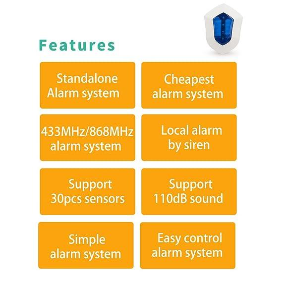 Sistema de alarma Golden Security para el hogar, de color ...