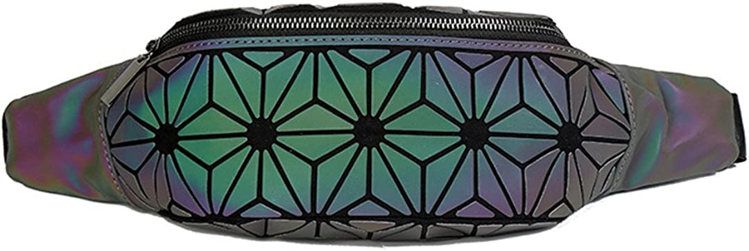 Luminous Pockets WomenS Chest Bag Mobile Phone Bag Geometric Pockets Handbag