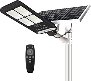 400W Solar Street Flood Light Outdoor, NIORSUN Motion Sensor Dusk to Dawn Solar Light with Remote Control IP67 Waterproof for Parking Lot, Stadium, Garden, Pathway(Bright White)