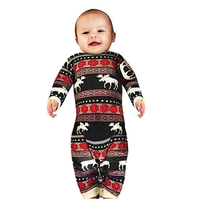 Ouneed - Pijamas enteros - para bebé niña multicolor rosso